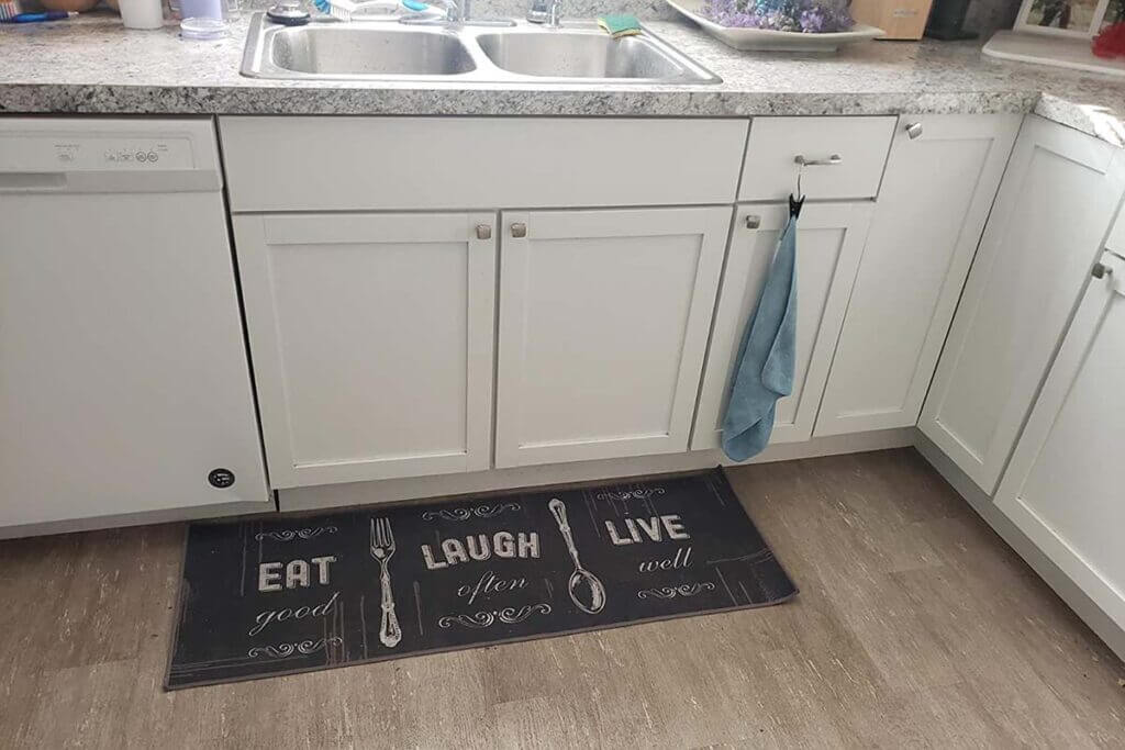 Carvapet 2 Piece Non-Slip Backing Kitchen Rug