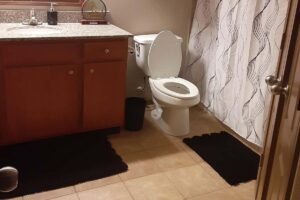 H.VERSAILTEX Extra Thick Chenille Striped Pattern Bath Rug for Bathroom