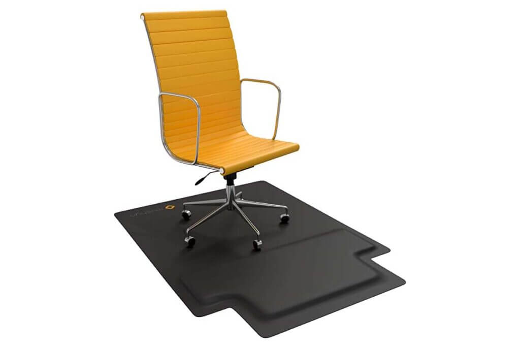Mushyn Office Chair Mat with Anti-Fatigue Cushioned Footrest