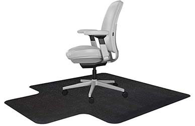 Resilia Office Desk Chair Mat with Lip