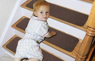 Lmeison Stair Treads Non-Slip Carpet Indoor Stair